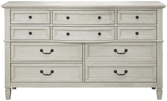 Best Lakeshore White 10Dr Dresser Art Van Furniture Bedroom 400 x 300