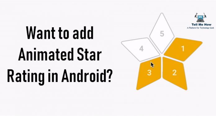 AnimatedStarRating Star rating, Android library, Animation
