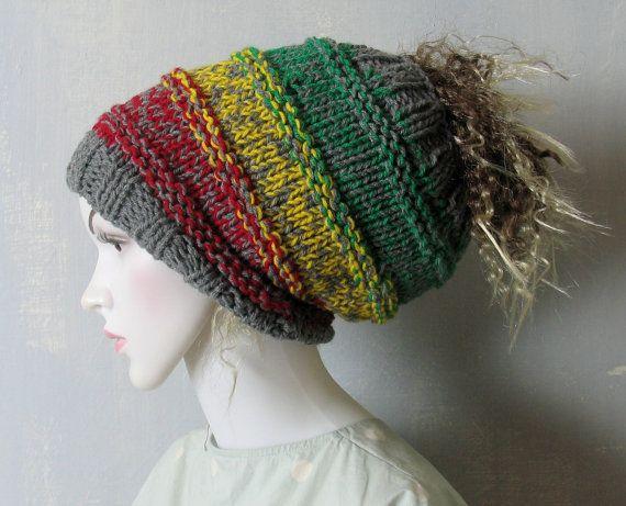 Dreadlock Headband Knitted Headwrap Tube Hat Dreads Accessories
