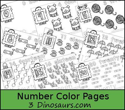 Free Number Coloring Pages | Colorear, Números y Educación en casa