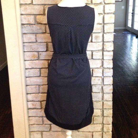 Ann Taylor Dresses - Blue and White Polka Dot Dress