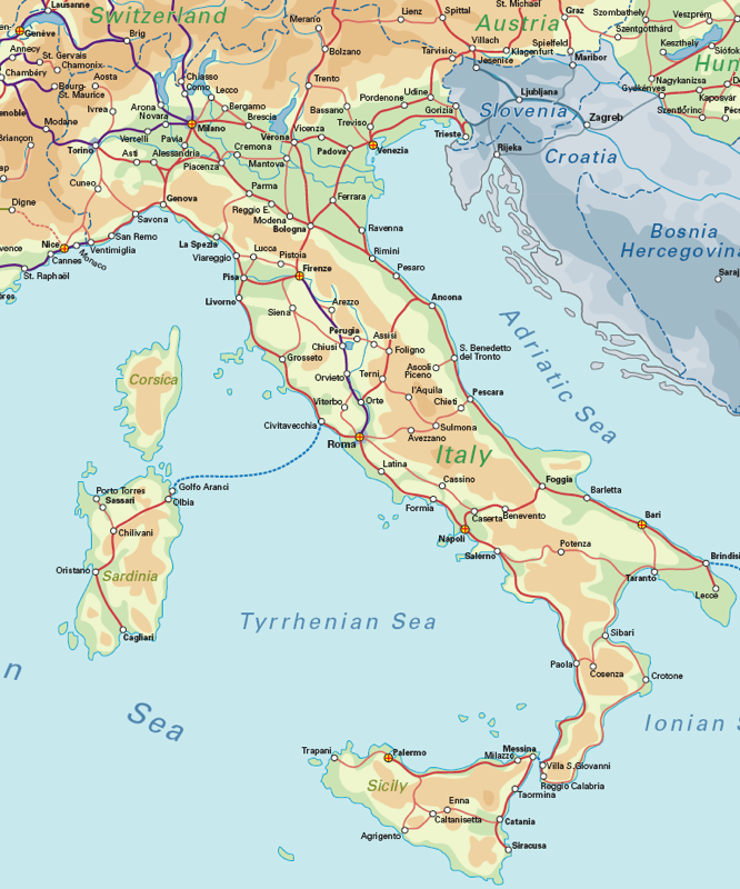 Italy Rail Map Rail Maps In 2019 Italy Rail Map Italy Map