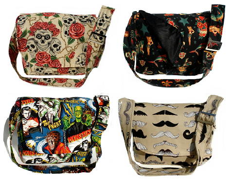 Unique Cool Punk Rock Gothic Edgy And Rockabilly Diaper Bags