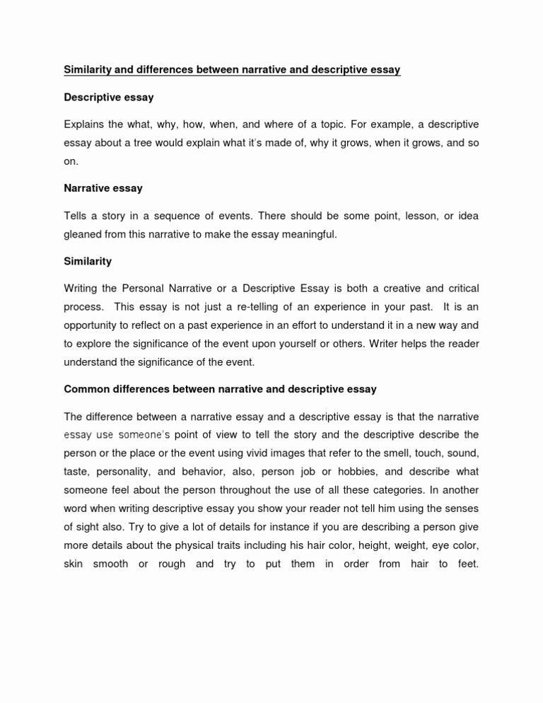 Descriptive Narrative Essay Best Of Desciptive How To Write A Topic About Writing Experience