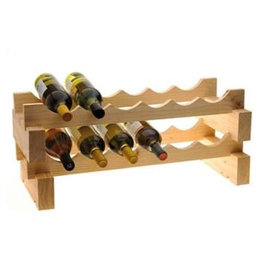 Modular 12 Bottle Wine Rack Natural Wine Rack Howard Storage Wine Bottle