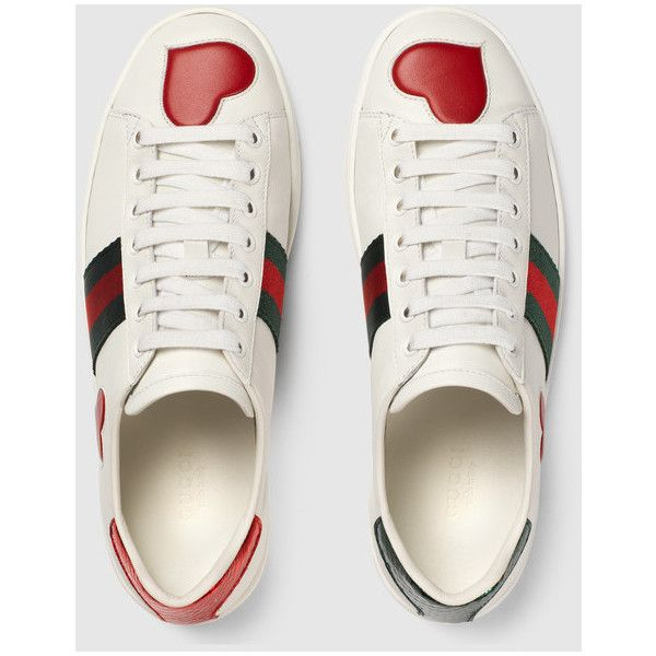 ab8806a767b Gucci Ace Embroidered Low-Top Sneaker ( 595) ❤ liked on Polyvore featuring  shoes