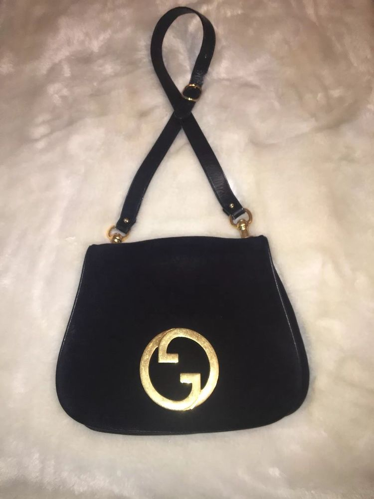 c0441b03585 Gucci Blondie Vintage Handbag Black and Gold - Unicorn Bag ...