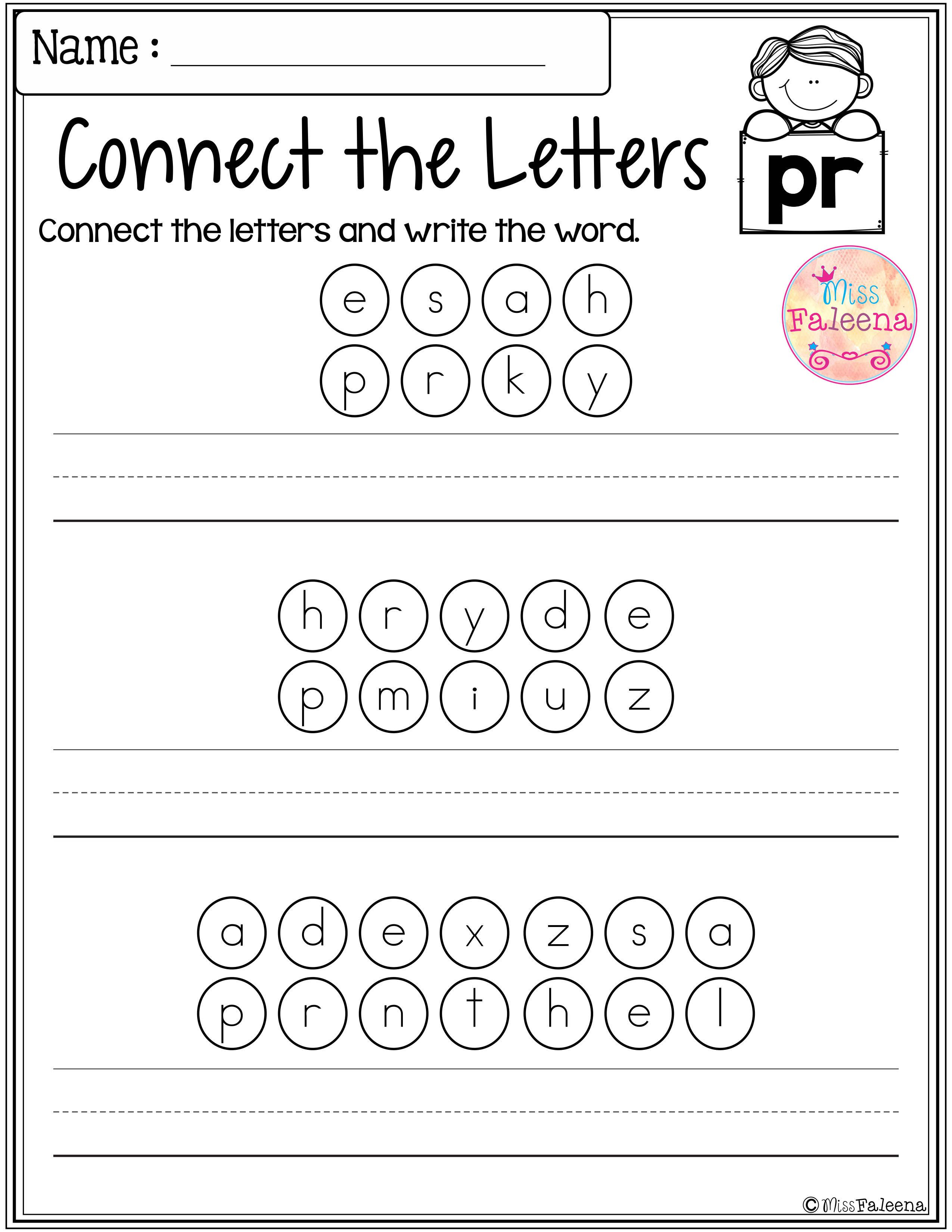 These are FREE samples from my Beginning and Ending Activities the  Bundle.Free Begi…   Blends worksheets [ 3300 x 2550 Pixel ]