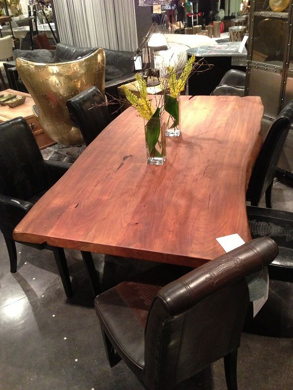 wavy wood dining table by four hands furniture in portland or. Black Bedroom Furniture Sets. Home Design Ideas