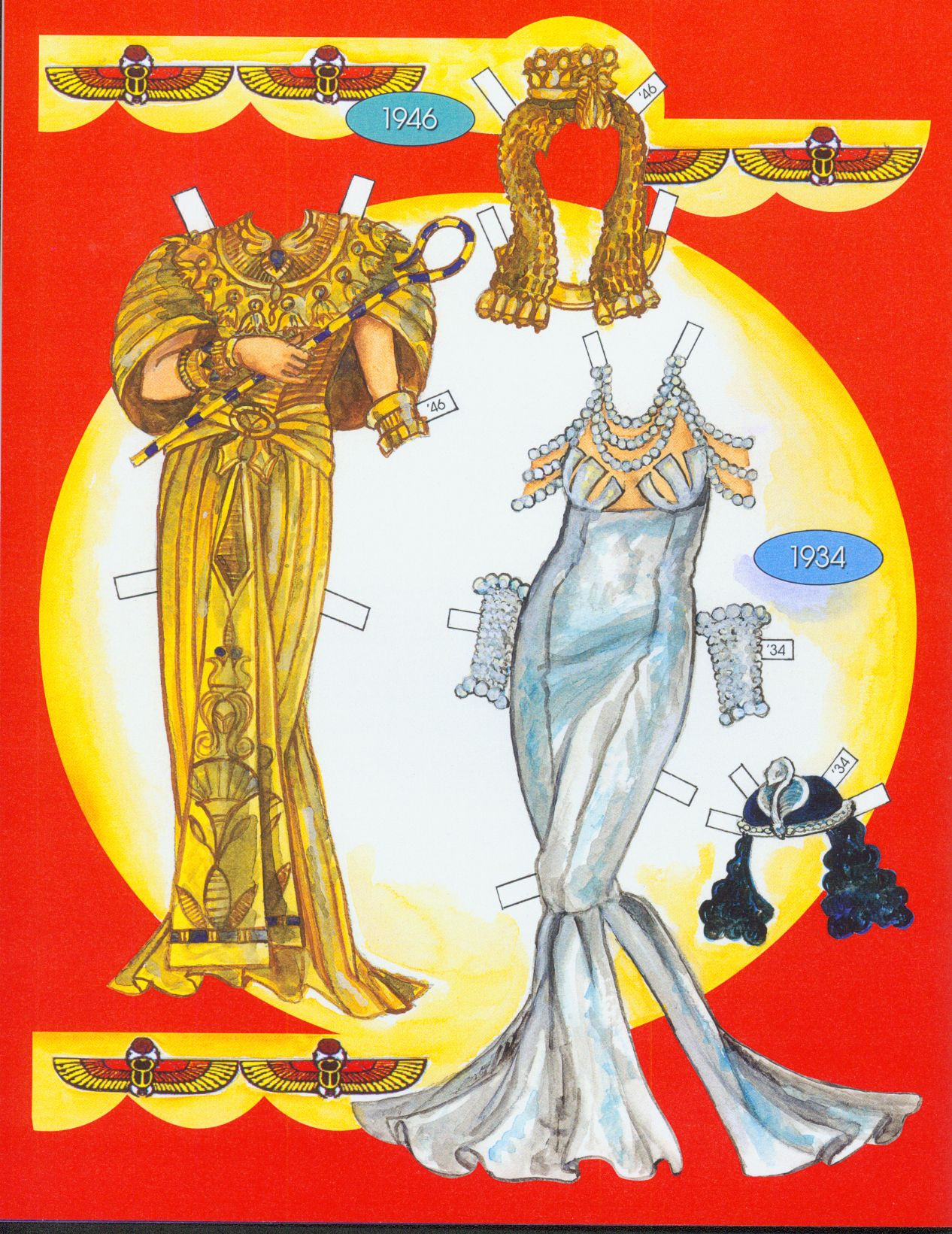Cleopatra's costumes. Page 8 of 8 Pages.  By David Wolfe, Paperdollywood.