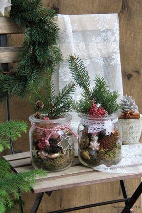 Weihnachten Vintage total - Tischlein deck dich #weihnachtsdekoglas