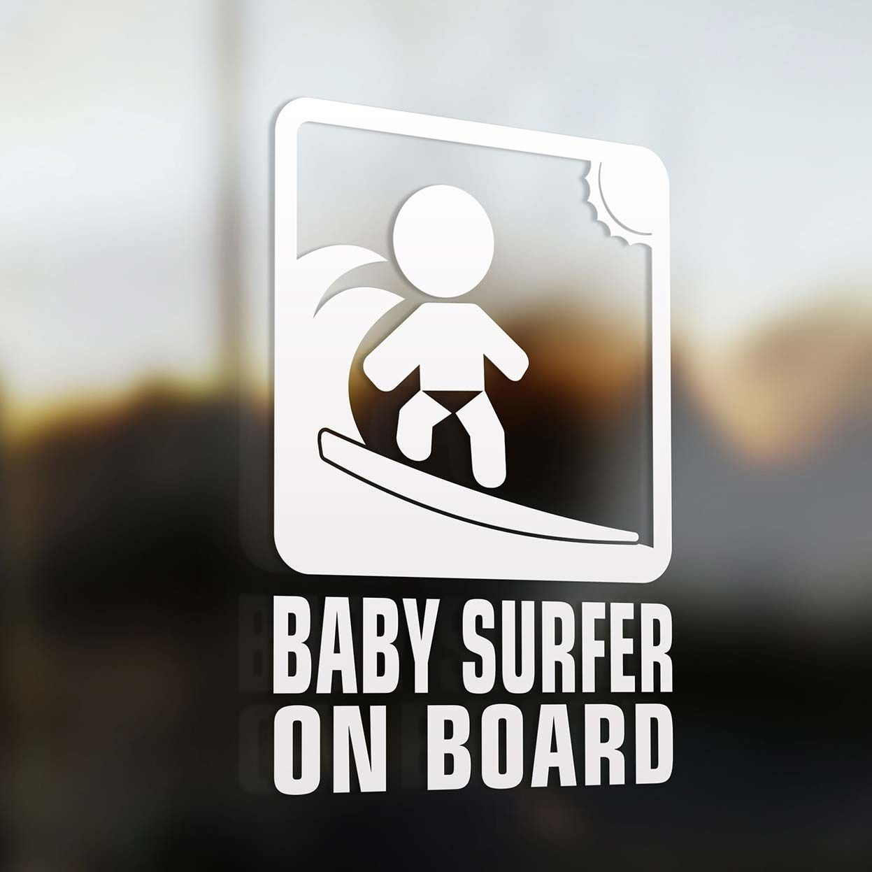Shop Our Baby Surfer On Board Sign The Coolest Baby On Board Car - Vinyl decal car signs