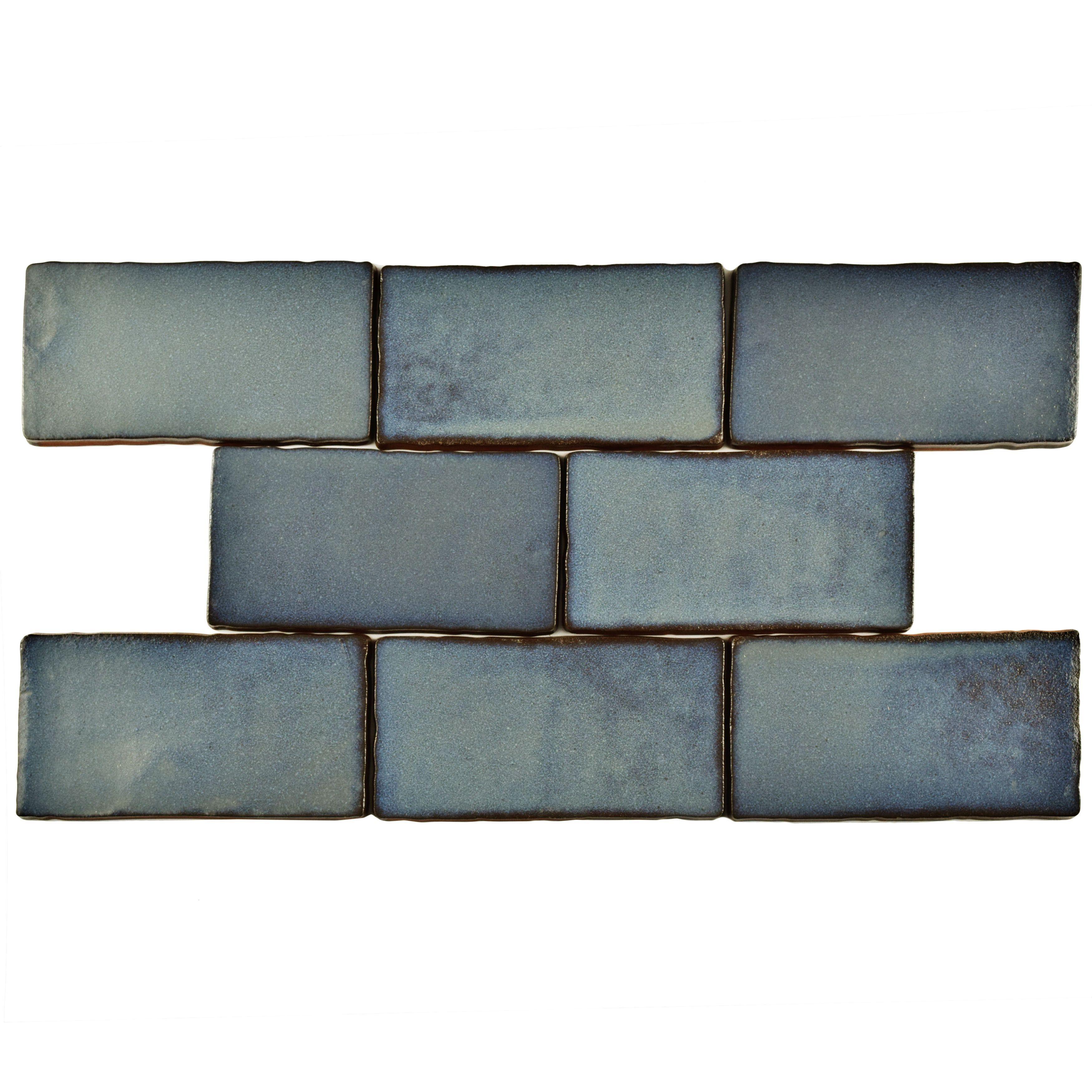 SomerTile 3x6 inch Antiguo Special Griggio Ceramic Wall Tile 8