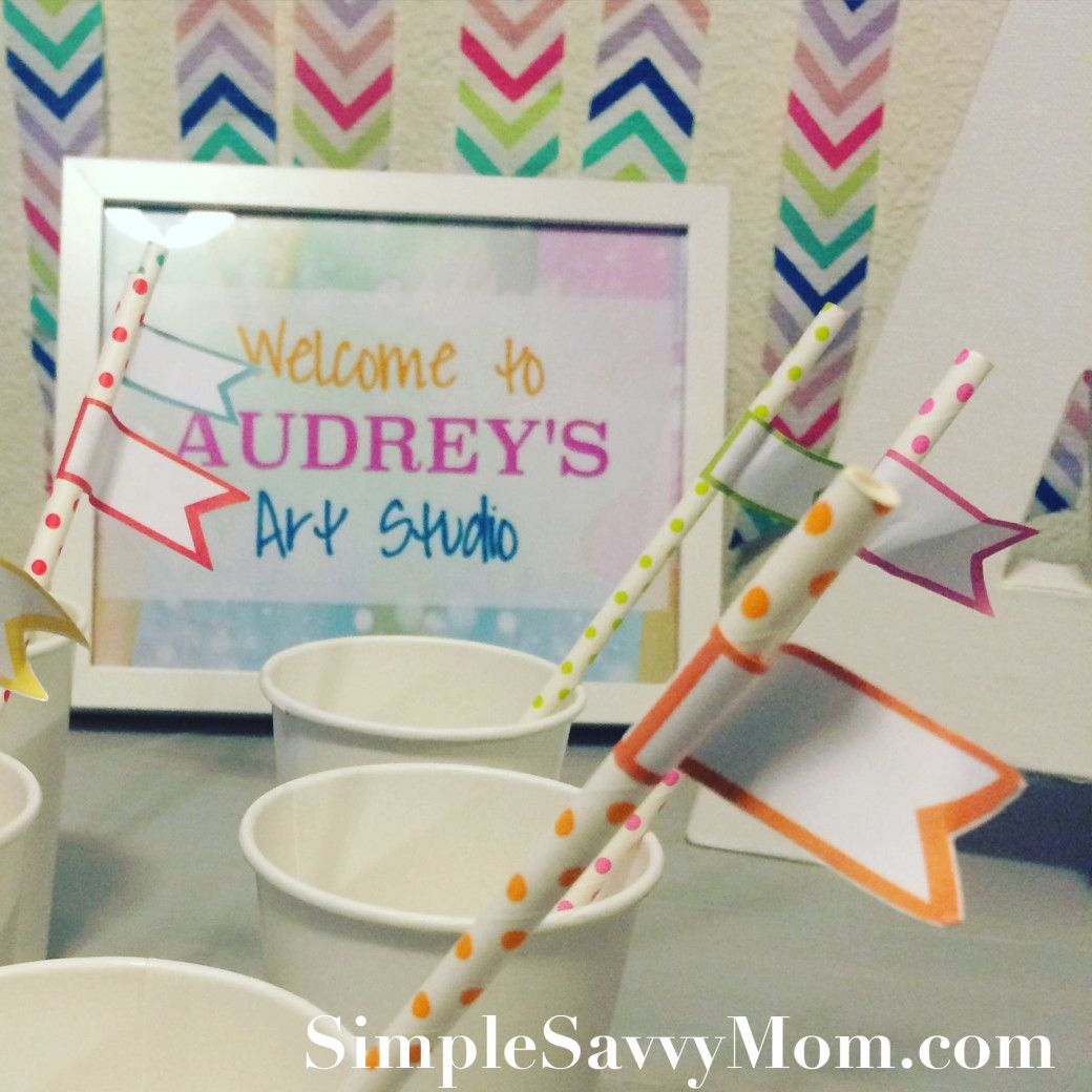 4 year old arts and crafts - Arts And Crafts Themed Birthday Party For A 4 Year Old