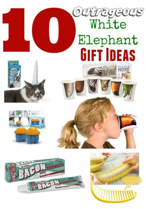 10 outrageous white elephant holiday gifts pinterest white 10 outrageous white elephant gift ideas gag gifts gift exchange solutioingenieria