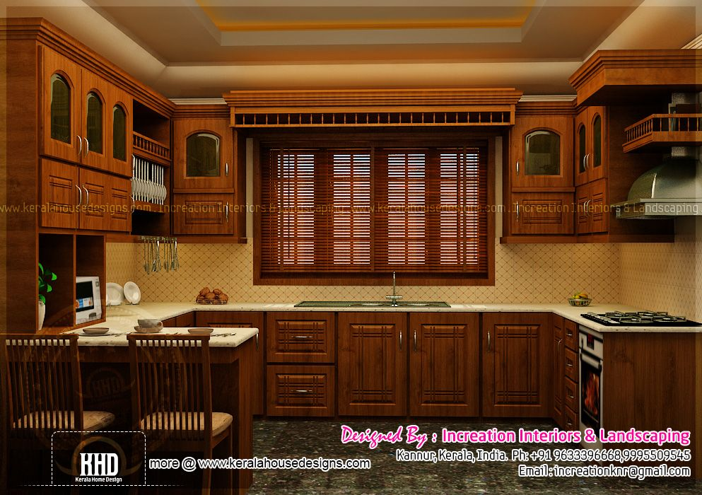 Kitchen Design Kerala Style kitchen-design-in-kerala-indian-house-plans (1489×955