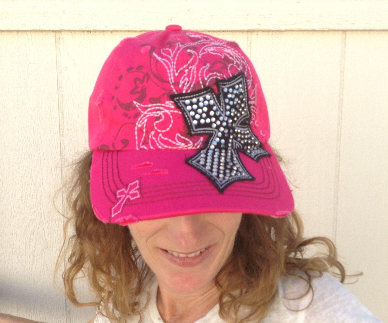 Pink Bling Baseball Hat Hats For Women Womens Baseball Hats