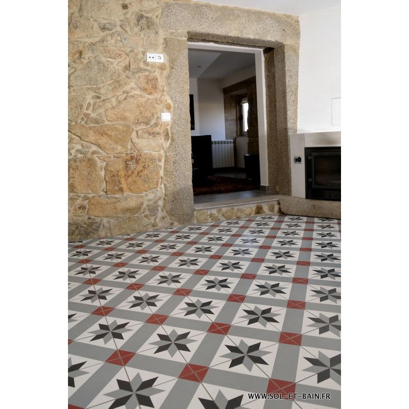 Decor carrelage neocim carreaux ciment 20x20 optique for Decor carrelage salle de bain