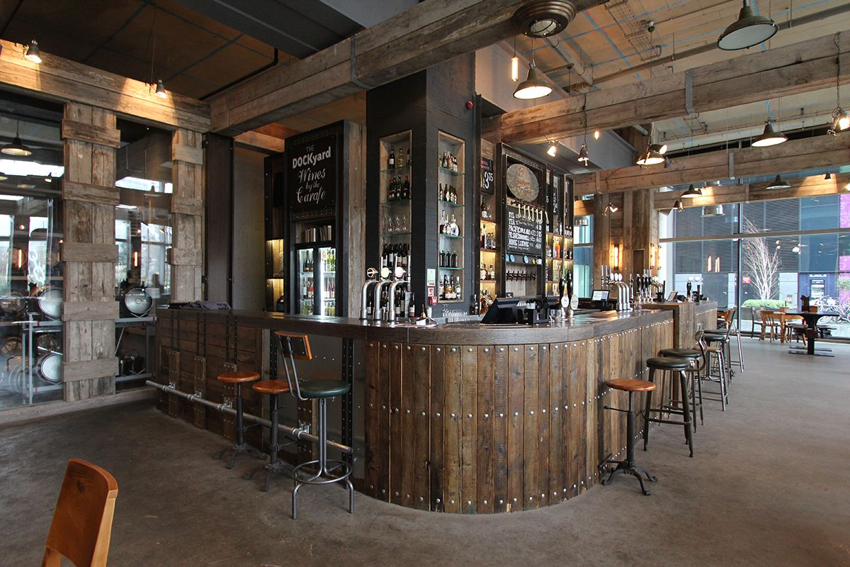 The Dockyard Bar In Manchester Reclaimed Materials Interior