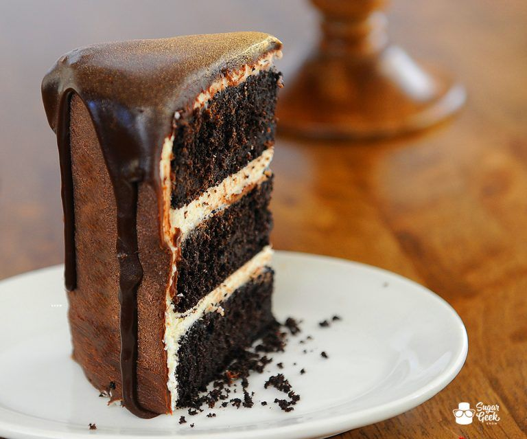 Black velvet buttermilk cake with bright neon frosting