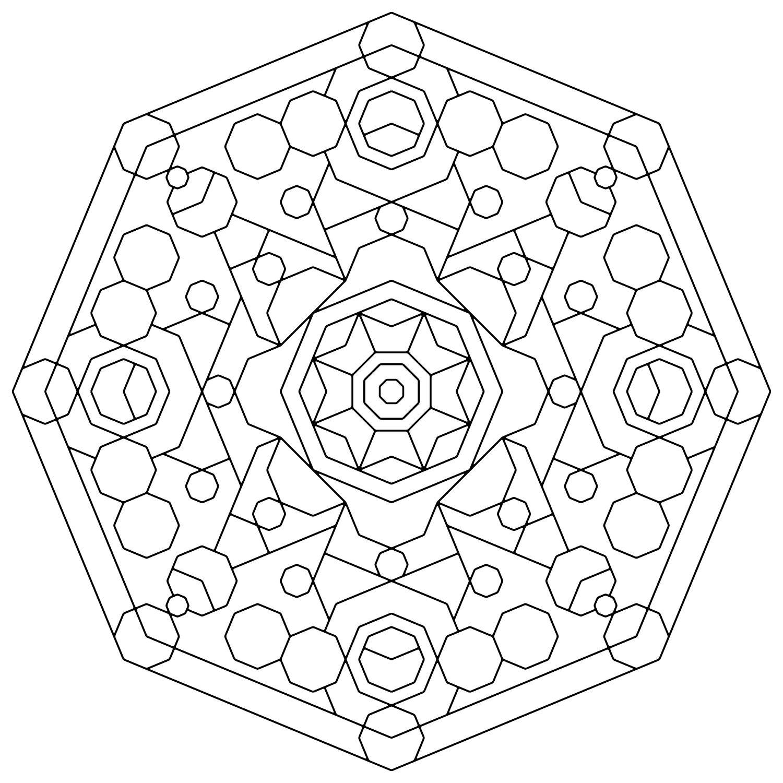Pattegeometrycoloringpagesg coloring geometrical designs