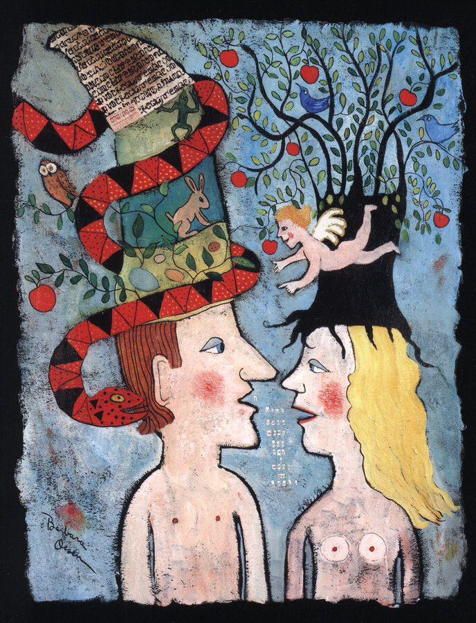 Adam listens to Eve.......by Barbara Olsen