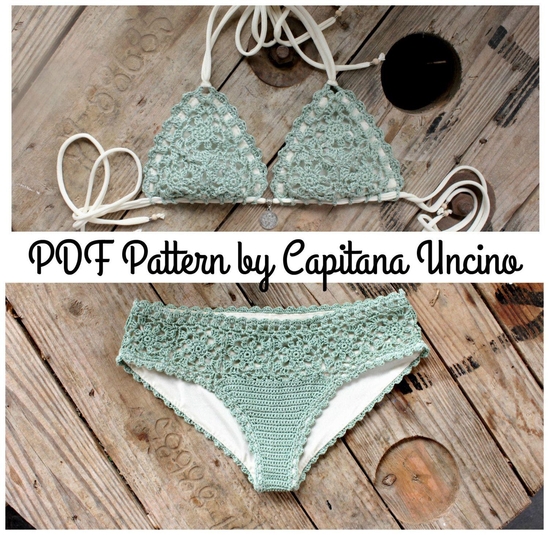 Pdf Crochet Pattern For Doris Lingerie Crochet Bikini Top And