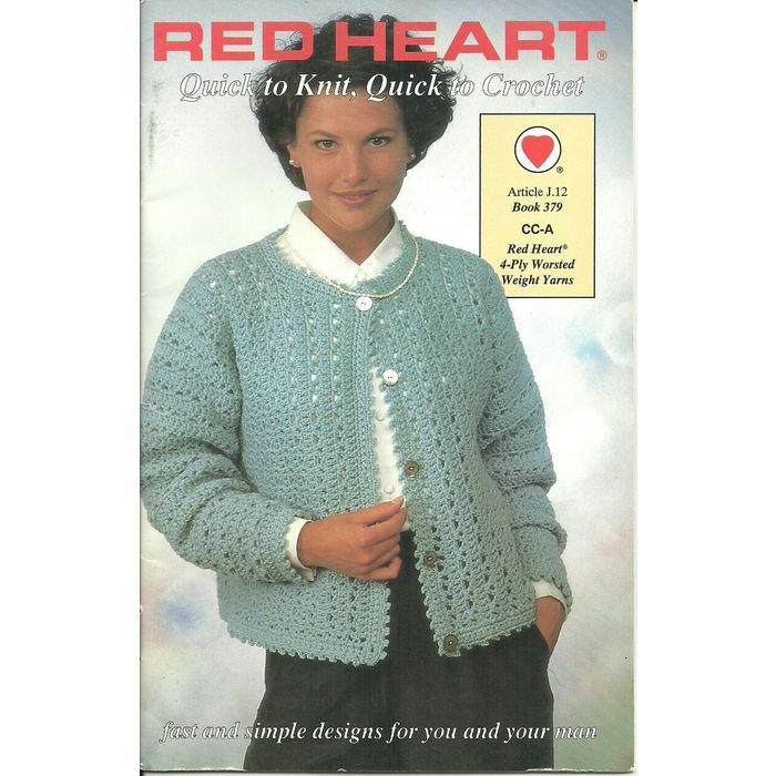 Red Heart Booklet 379 Quick To Knit Quick To Crochet 6 Women