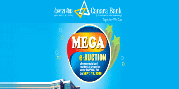 Canara Bank E-Auction Scheme for Affordable Houses, Shops & Offices in Different Cities