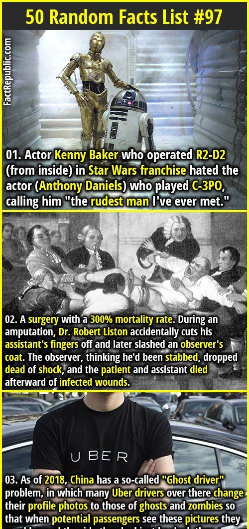 50 random facts list 97 pinterest anthony daniels kenny baker