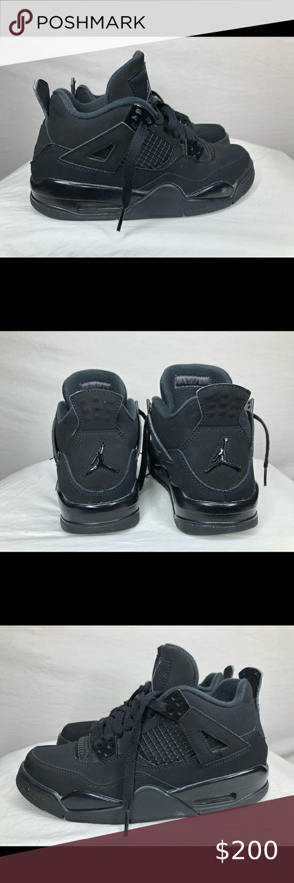 Air Jordan Black Cat 4 size 5Y / 6.5 W In mit condition