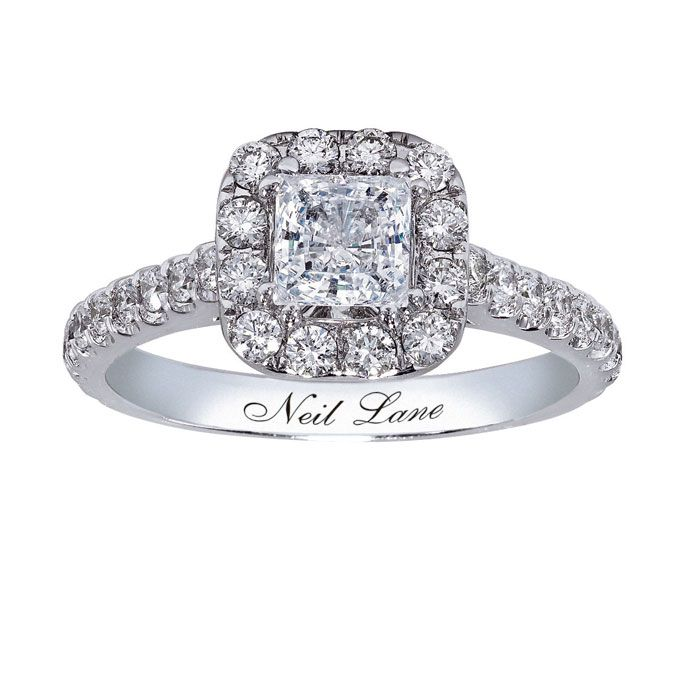Brides.com: Engagement Rings Under $5K . Style 990643607, 14k white gold