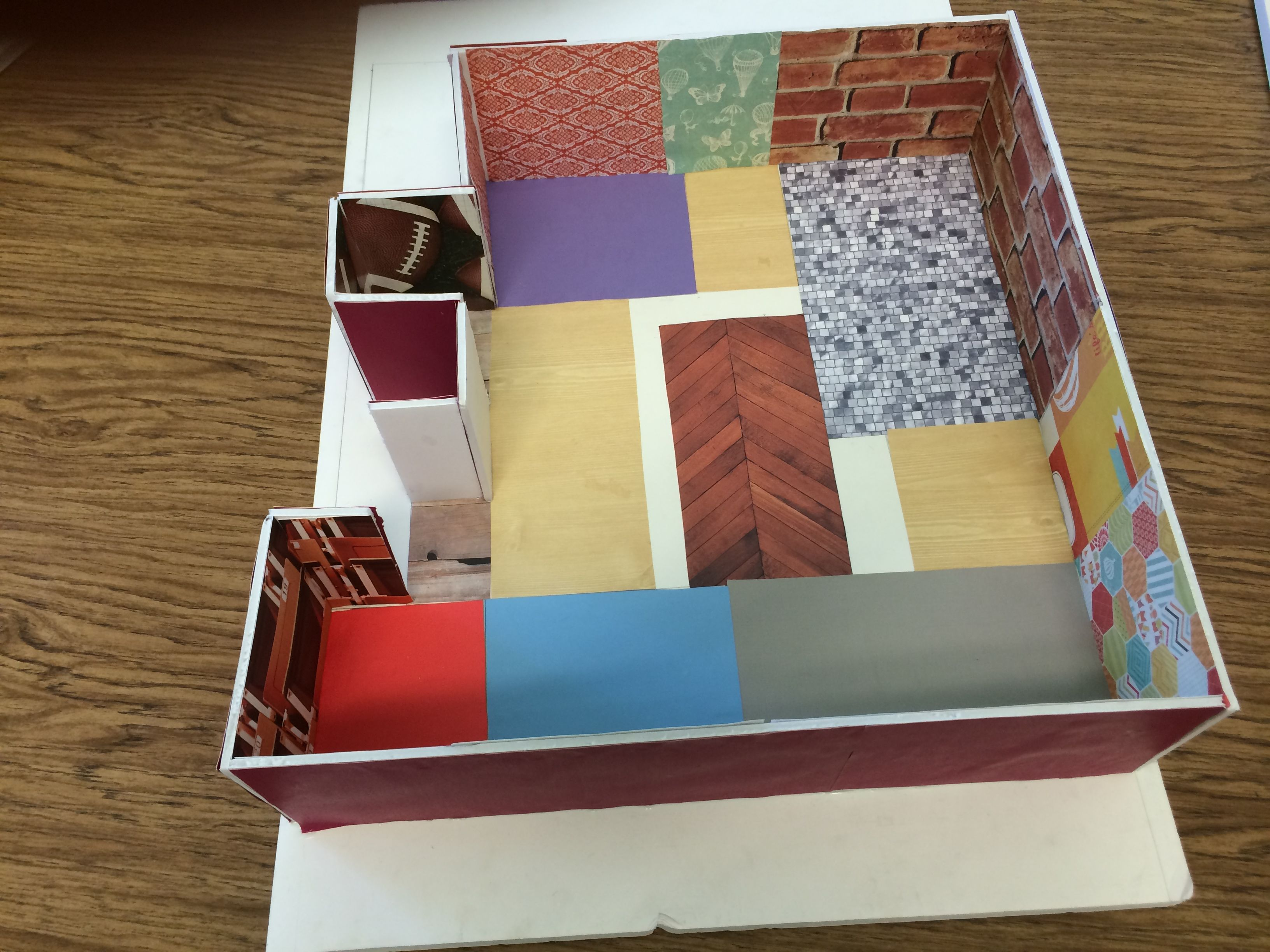 Here is a model one of my students constructed as part of our 3 week dream house project the - Dream home floor plan model ...