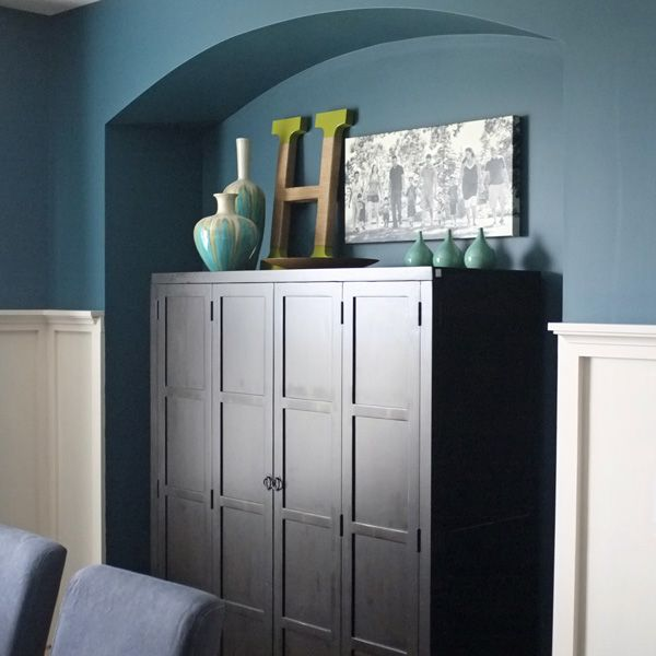 An Armoire Is A Non Traditional Dining Room Buffet But Can Still Be Styled