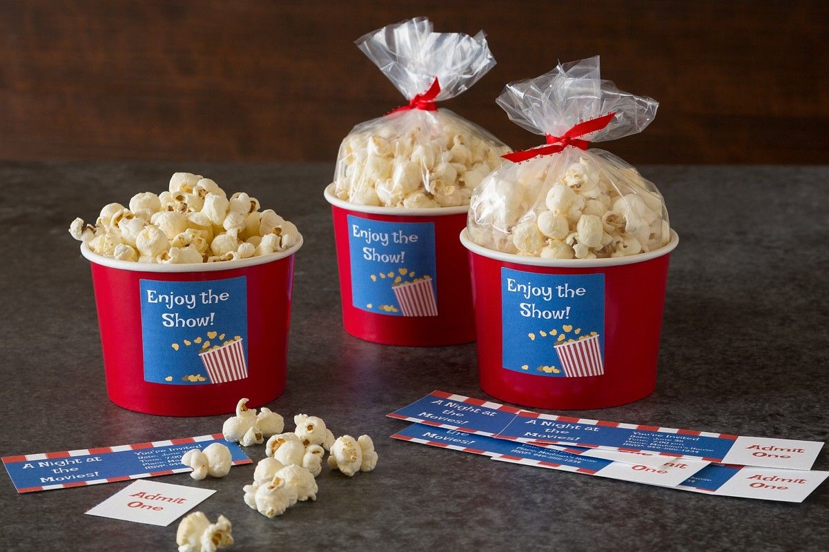 Create Your Own Movie Night With These Fun, Free Printables. We Made These  Popcorn  Create Your Own Movie Ticket