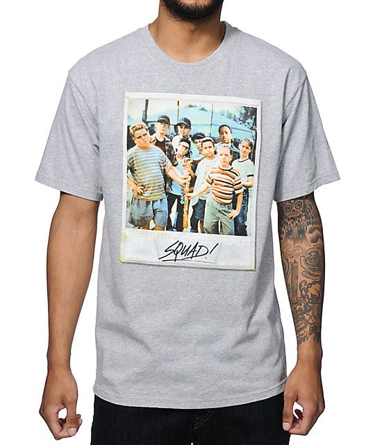 938df38fe Throw on some iconic style to go hang with your crew with the squad from  the movie The Sandlot chest graphic with a tagless design for extra comfort.
