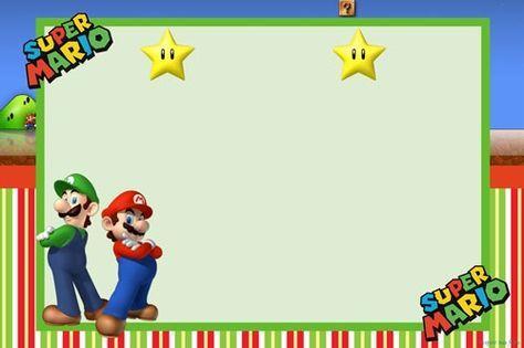 Convite Blog Super Mario Mario Bros Mario Mario Birthday Party