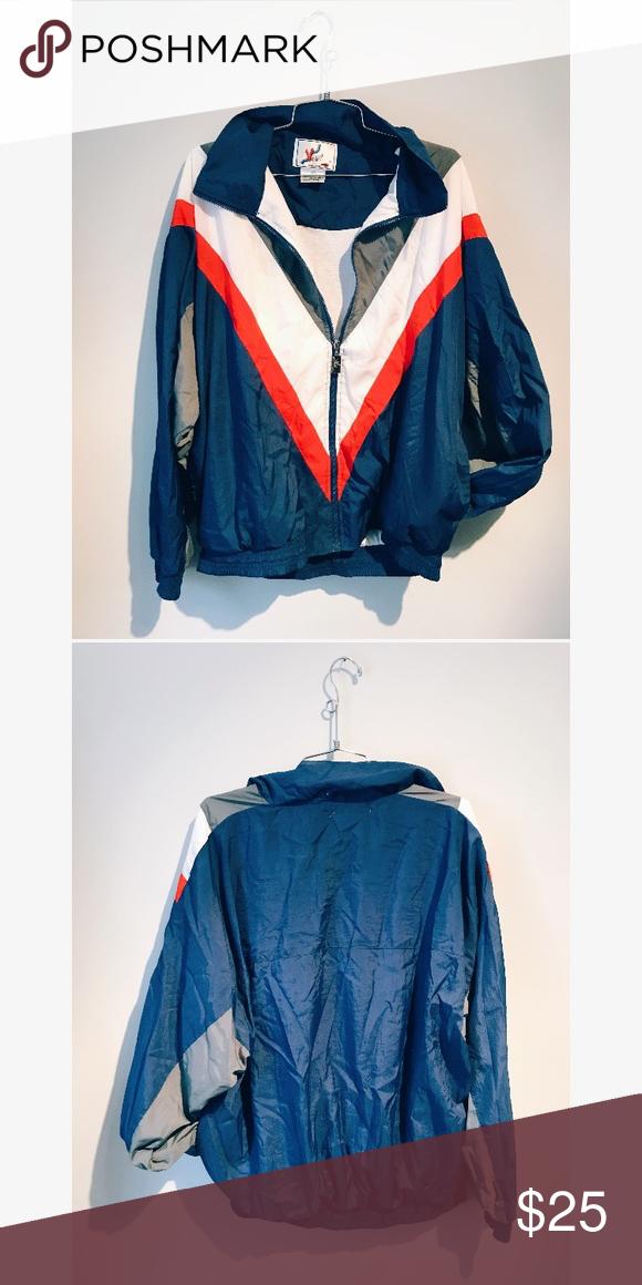 Vintage Color Blocked Windbreaker Vintage Jacket Windbreaker Vintage Colors