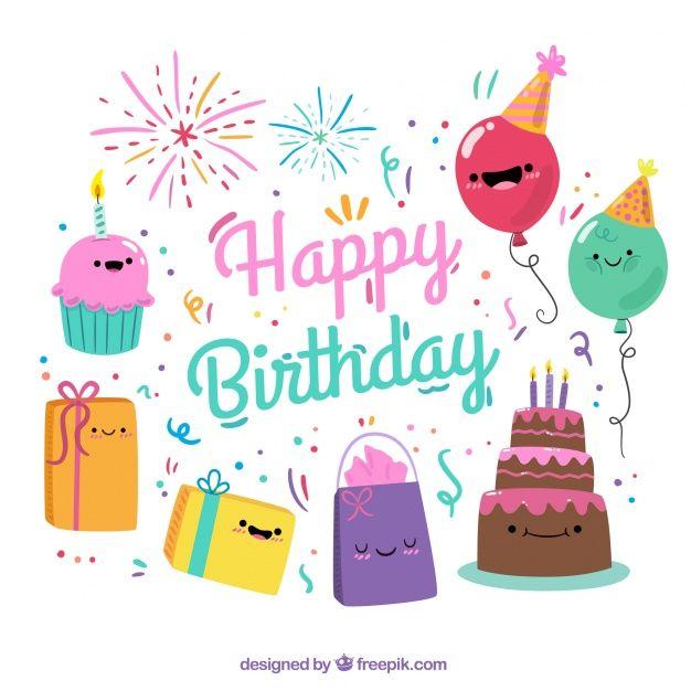 M s de un mill n de vectores gratis PSD fotos e iconos gratis – Happy Birthday Card Psd