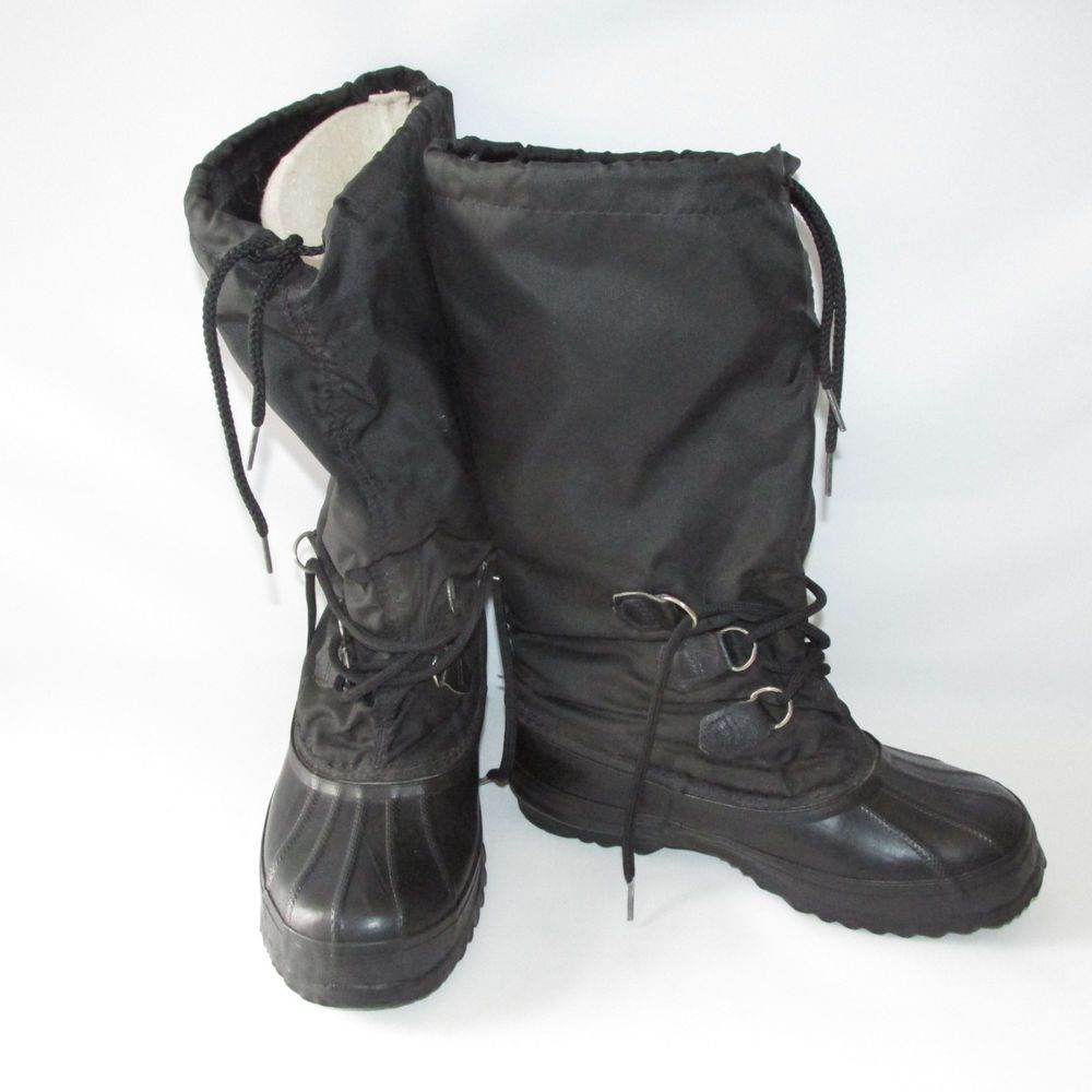 2fd9ee7ad46d Sorel Snowlion Kaufman Womens Winter Boots Black Size 7 Insulated 15