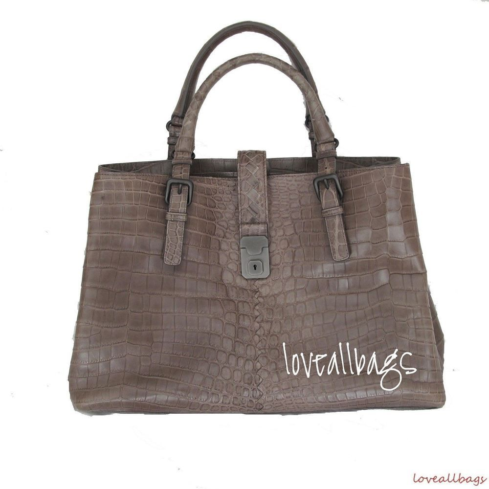2297eed29ef RARE BOTTEGA VENETA CROCODILE ROMA BAG - STEEL - BRAND NEW CONDITION   eBay