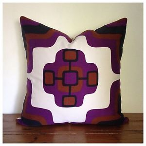 "Handmade Vintage1970s Fabric Cushion Cover, 20"" x 20"" New"