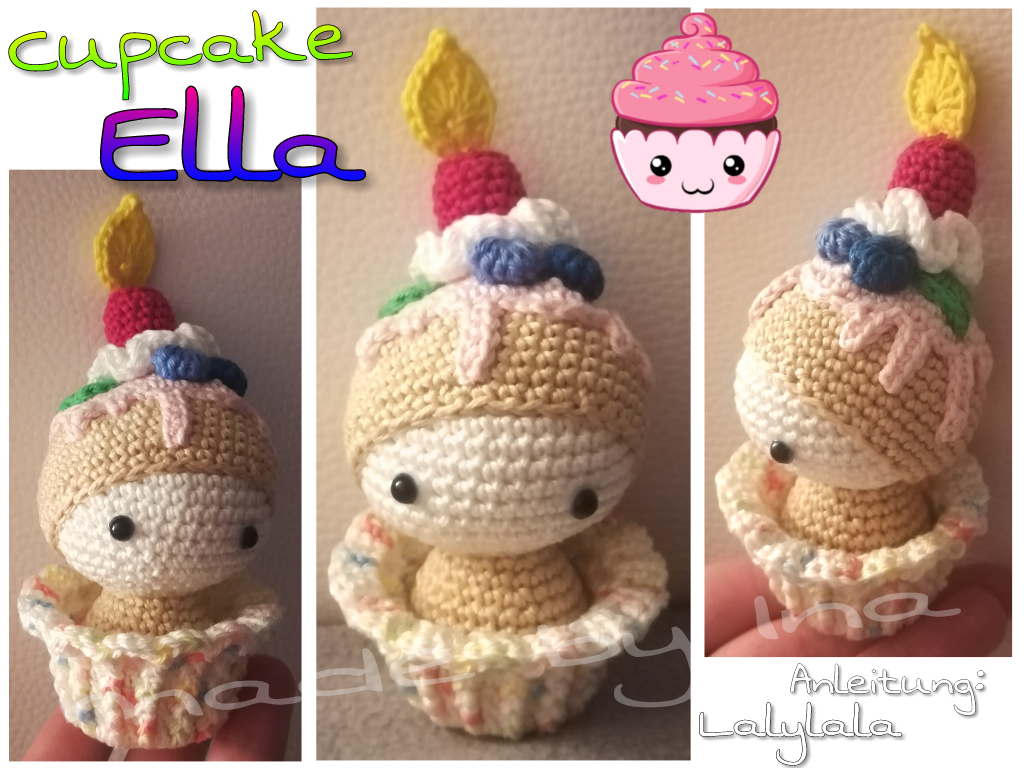 Cupcake Ella Made By Ina K Crochet Pattern By Lalylala