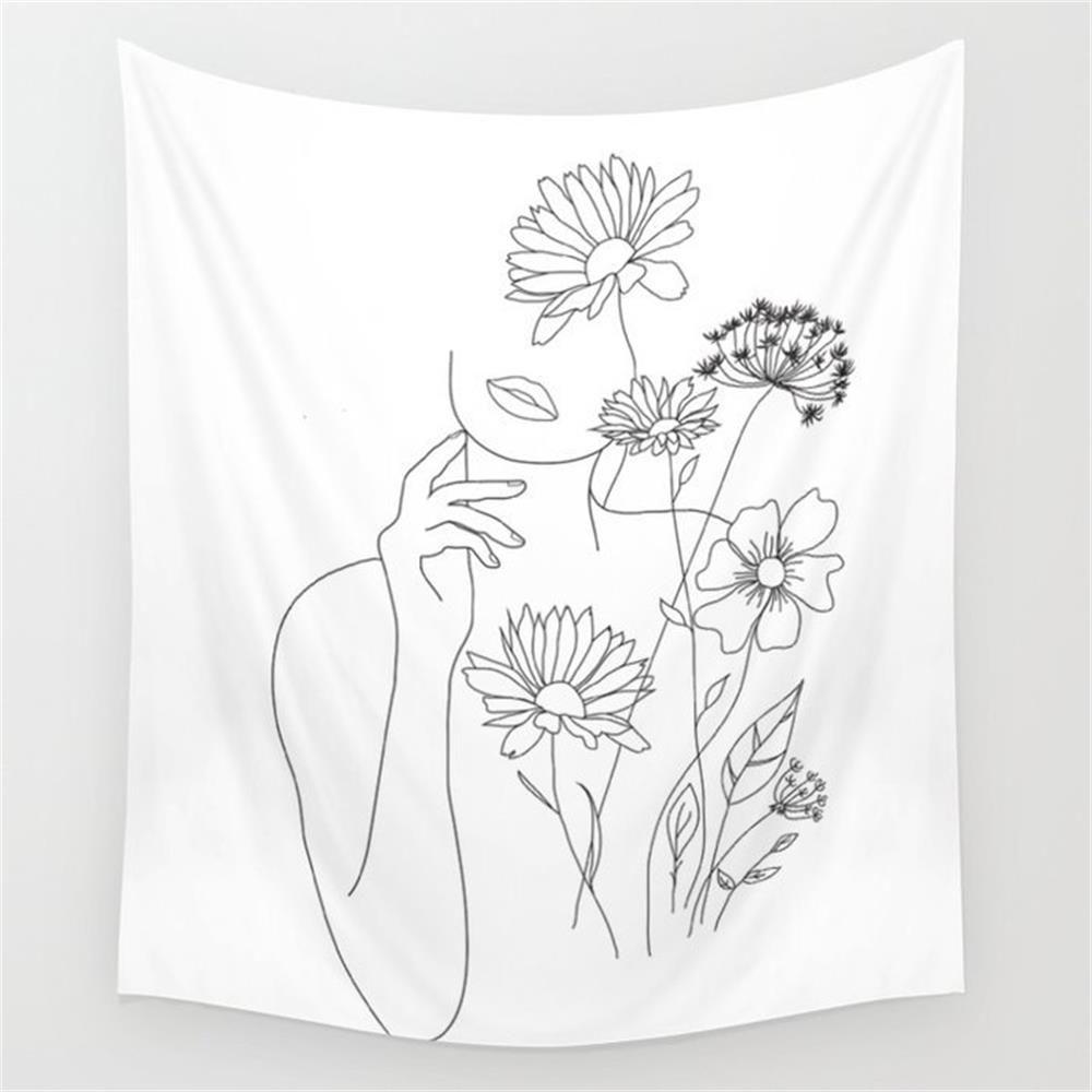 Flower Girl Wall Tapestry #purpledormrooms