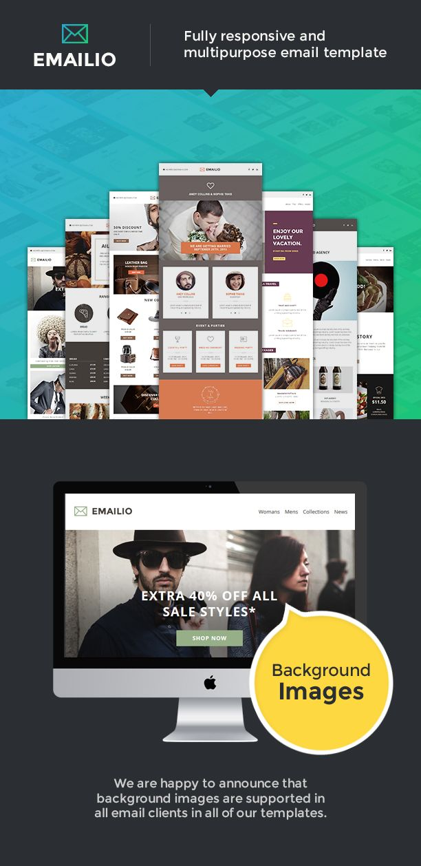 Emailio Is A Set Of Responsive Multipurpose Email Templates With