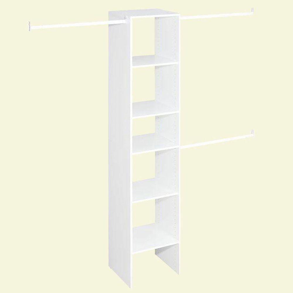 ClosetMaid Selectives 16 in. White Custom Closet Organizer   Custom ...