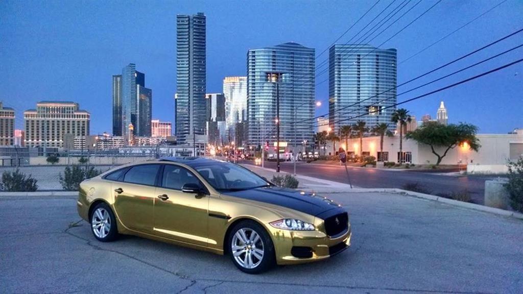 Gold Jaguar Xj Xjl By Las Vegas Car Wraps In Las Vegas Nv Click To