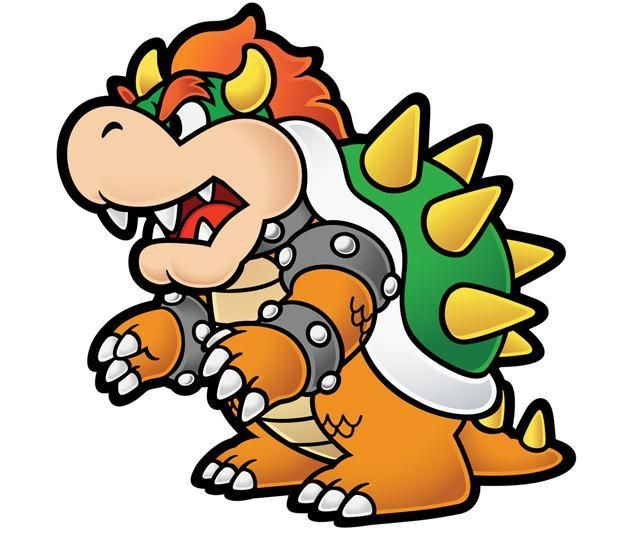 Super Mario 3D Land Bowser Characters Coloring Pages Cartoon
