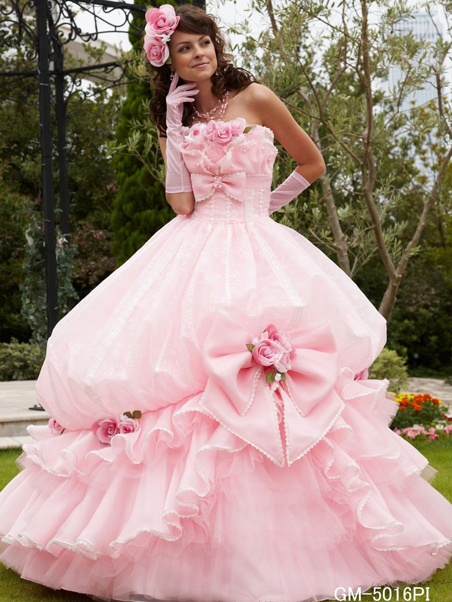 Beautiful Pink Gown | Barbie Pink Wedding n Quinceanera Gowns ...