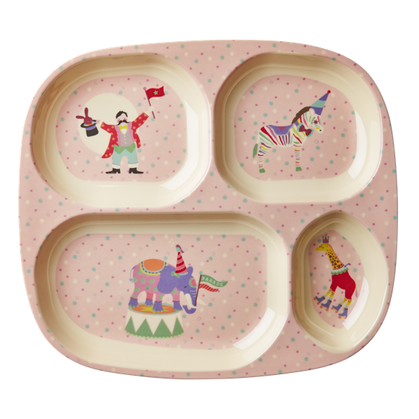 Rice Dk Kids Melamine Tray Plate Circus Pink Plates Toy Store Tableware